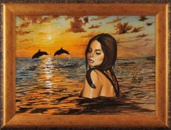 Я видел вдалеке дельфинов, помнишь... Картина художника Кирдянова Дениса