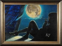 Сидя у раскрытого окна, этой ночью... Картина художника Кирдянова Дениса
