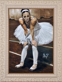 Балерина. Картина художника Кирдянова Дениса