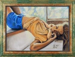Соткана солнцем, нежная. Картина современного художника Кирдянова Дениса
