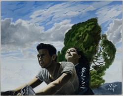 Три метра над уровнем неба. Картина художника Кирдянова Дениса